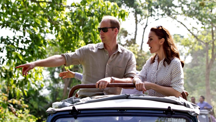 Image: Prince William and Kate, Duchess of Cambridge, are seen on a safari