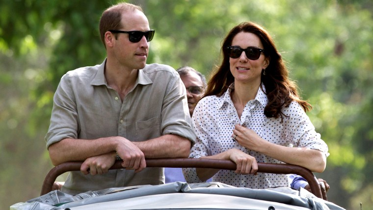 Image: Prince William and Duchess Kate in a jeep safari.