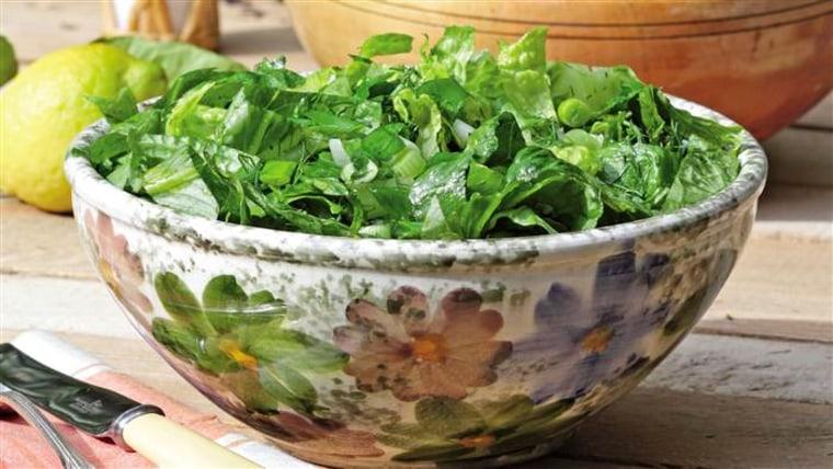 Classic spring lettuce salad