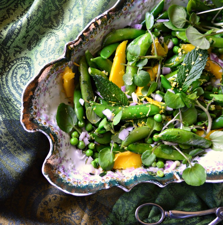 Sweet pea, mint and mango salad by Food Club member Abbe Odenwalder
