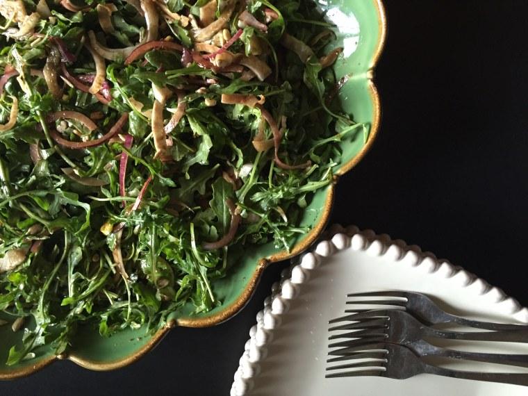 Fennel and arugula salad by Food Club member Jessica Wyman