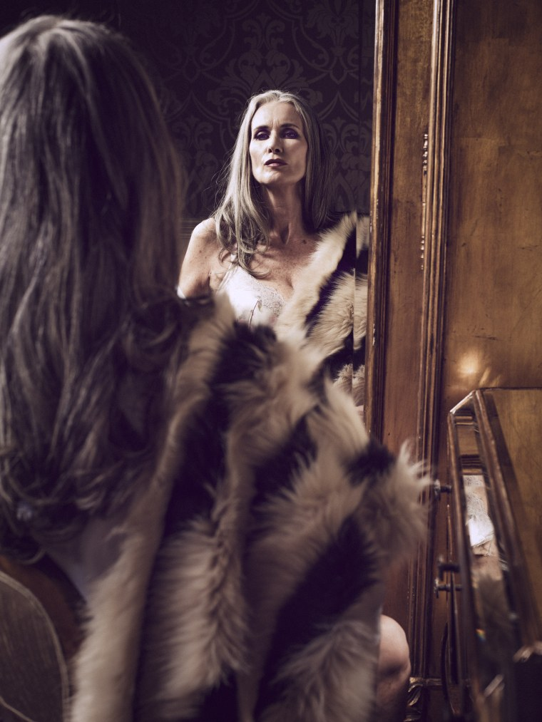 Nicola Griffin, 56, lingerie model