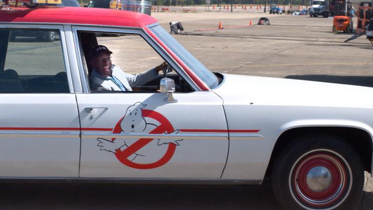 Al Roker visits set of Ghosbusters movie