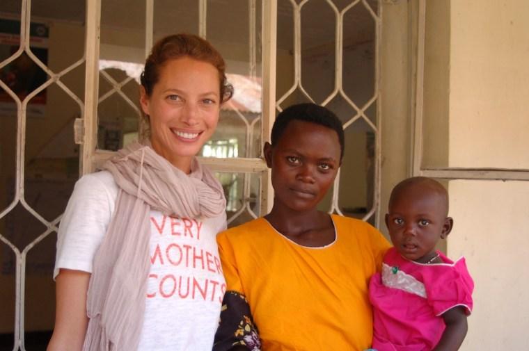 Turlington-Burns in Tanzania with Janet
