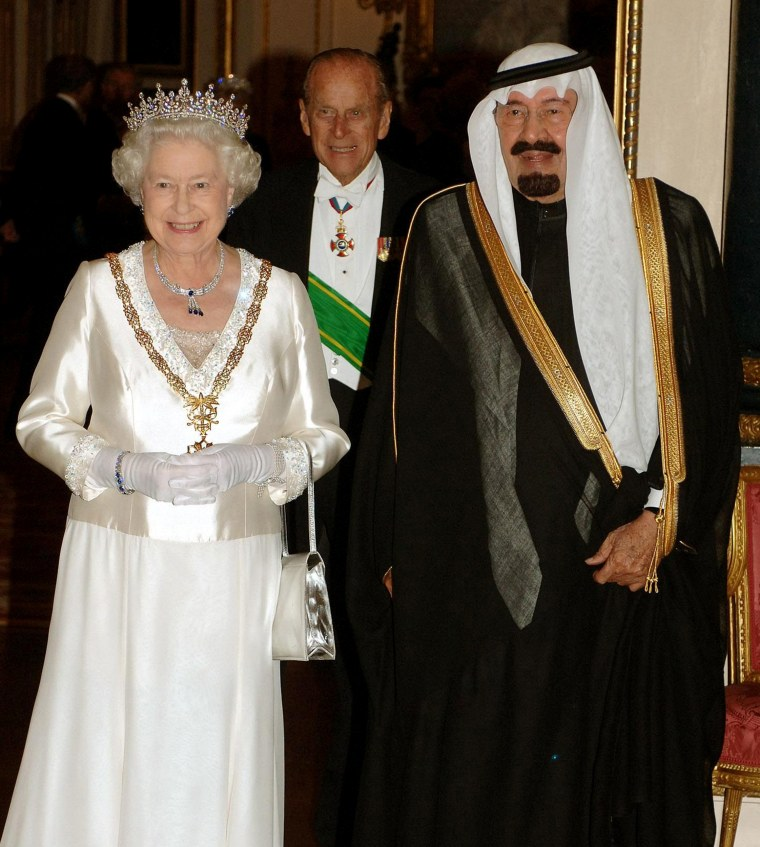 Saudi King Abdullah bin Abd al-Aziz, Queen Elizabeth