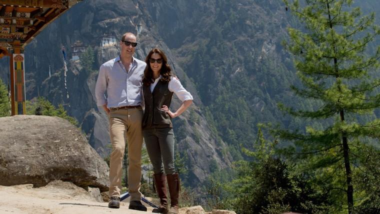 Duke and Duchess of Cambridge hike in Bhutan