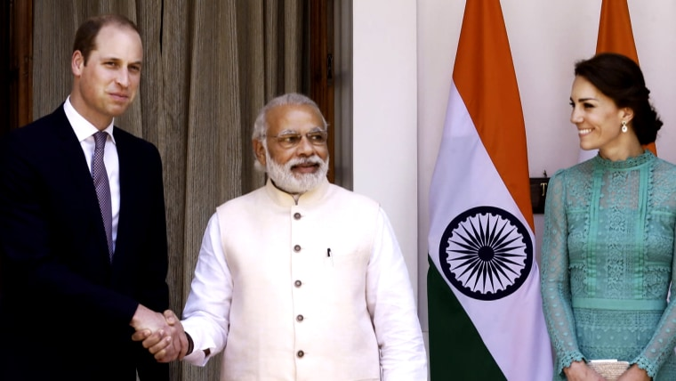 Prince William, Narenda Modi shaking hands
