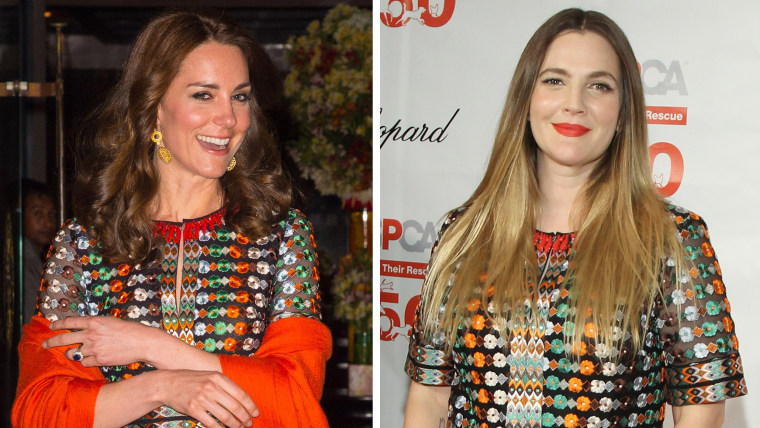 Kate Middleton, Drew Barrymore, same dress