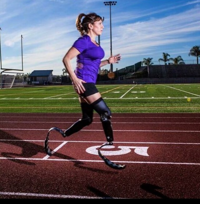 Jami Goldman Marseilles double amputee runner