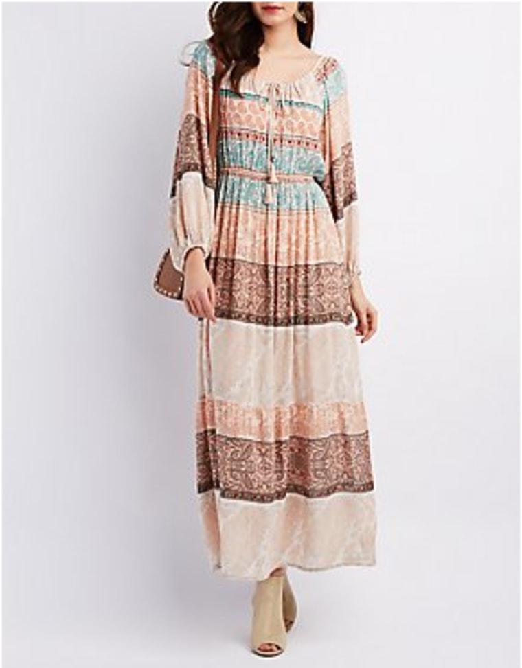 Charlotte Russe printed maxi dress