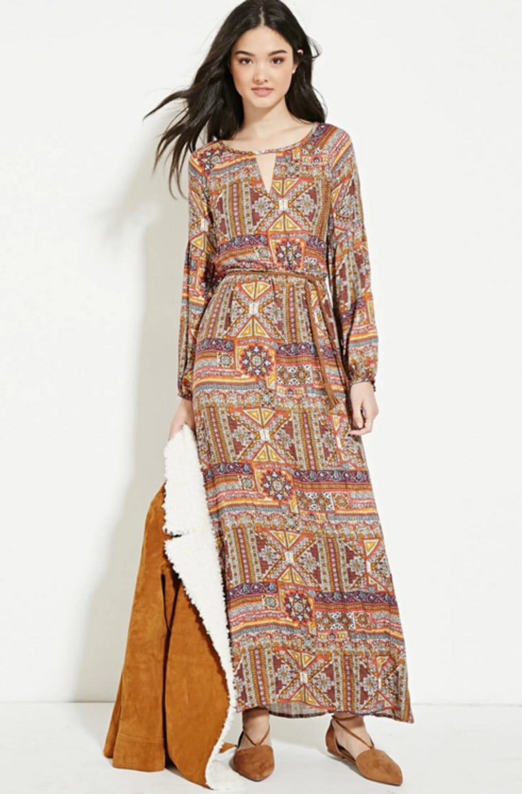 Forever 21 abstract printed maxi dress