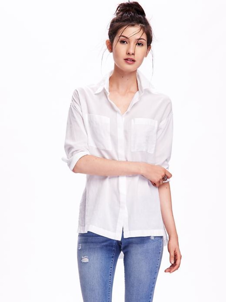 Old Navy white button down shirt