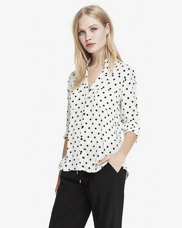 Express Fit Polka Dot Portofino Shirt
