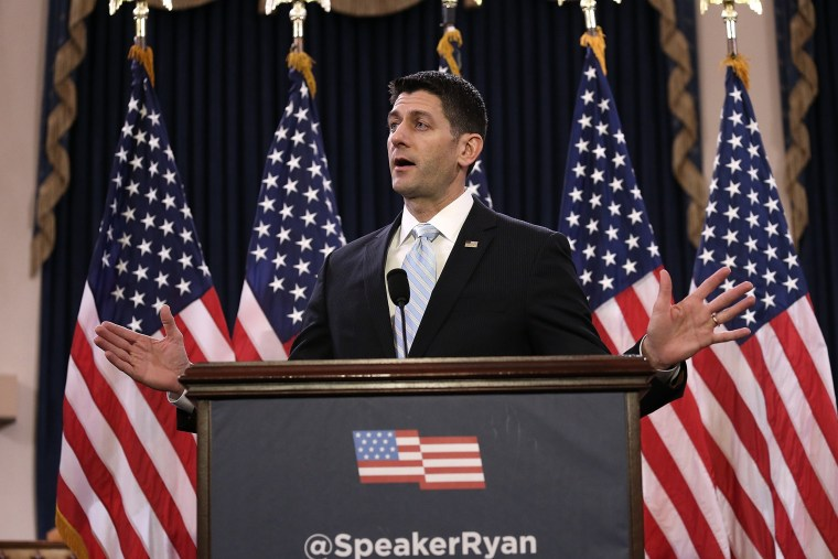 Image: House Speaker Paul Ryan Gives Speech On The State Of American Politics