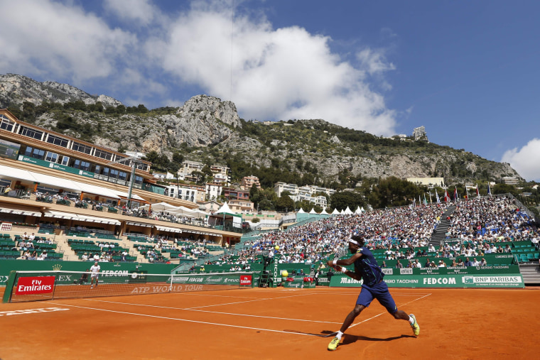Image: Monte-Carlo ATP Masters Series tournament tennis match