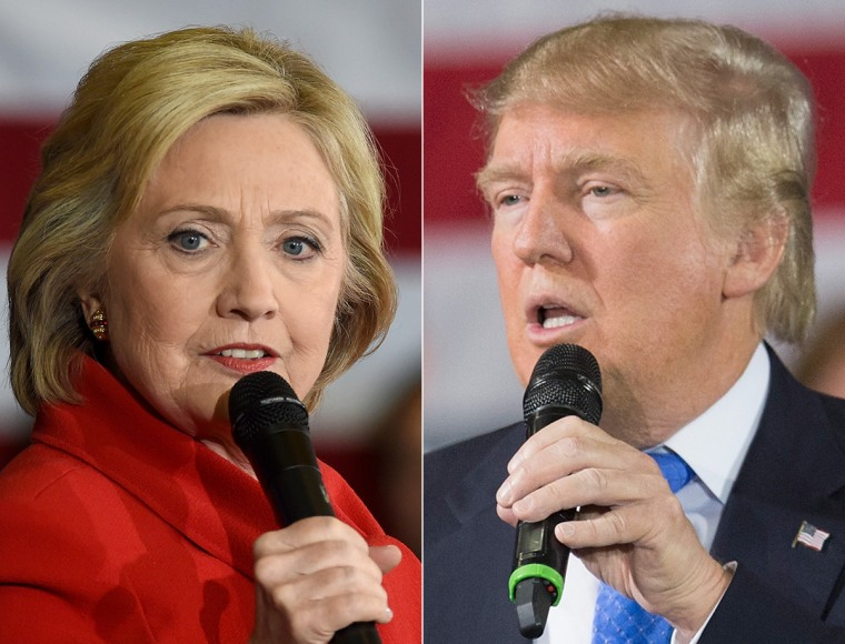 Image: A combination image of Presidential candidates Hillary Clinton and Donald Trump