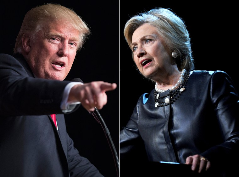Image: Presidential candidate Donald Trump and Hillary Clinton