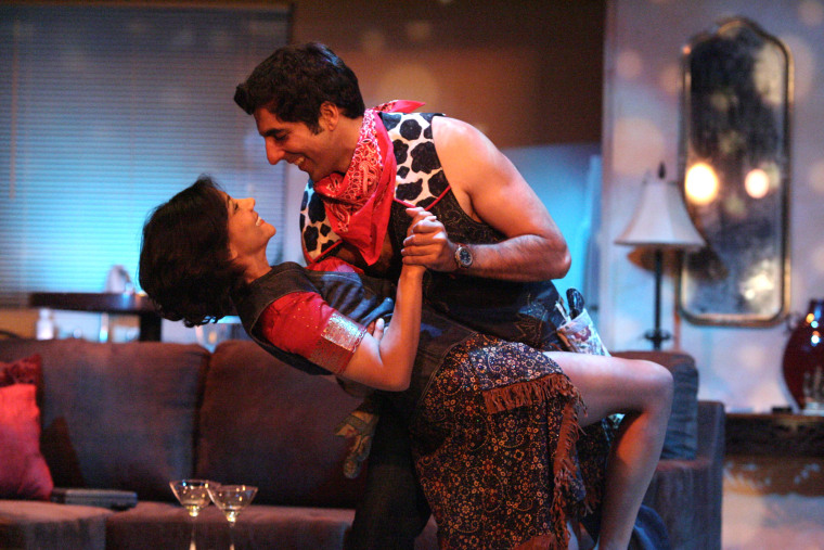 "Lina Patel and Sunil Mathotra dance together during the East West Players' 2011 production of ""A Widow of No Importance."""