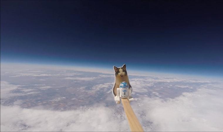 "The Loki Lego Launcher's \""crew\"" reaches the stratosphere."