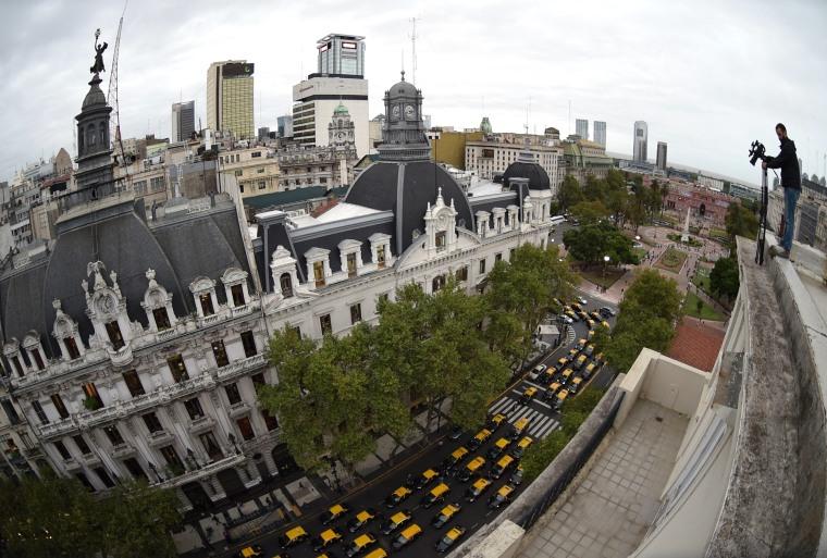 Image: ARGENTINA-TRANSPORT-UBER-PROTEST