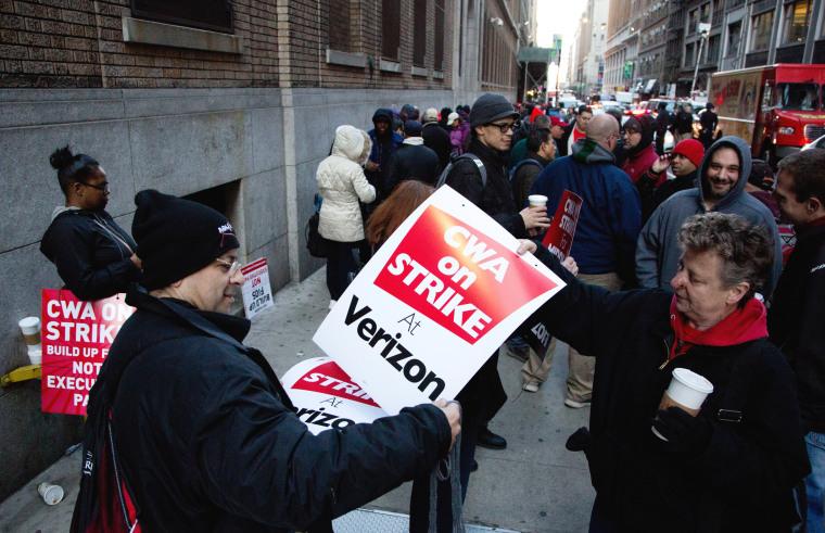 Image: Verizon strike U.S. East Coast states