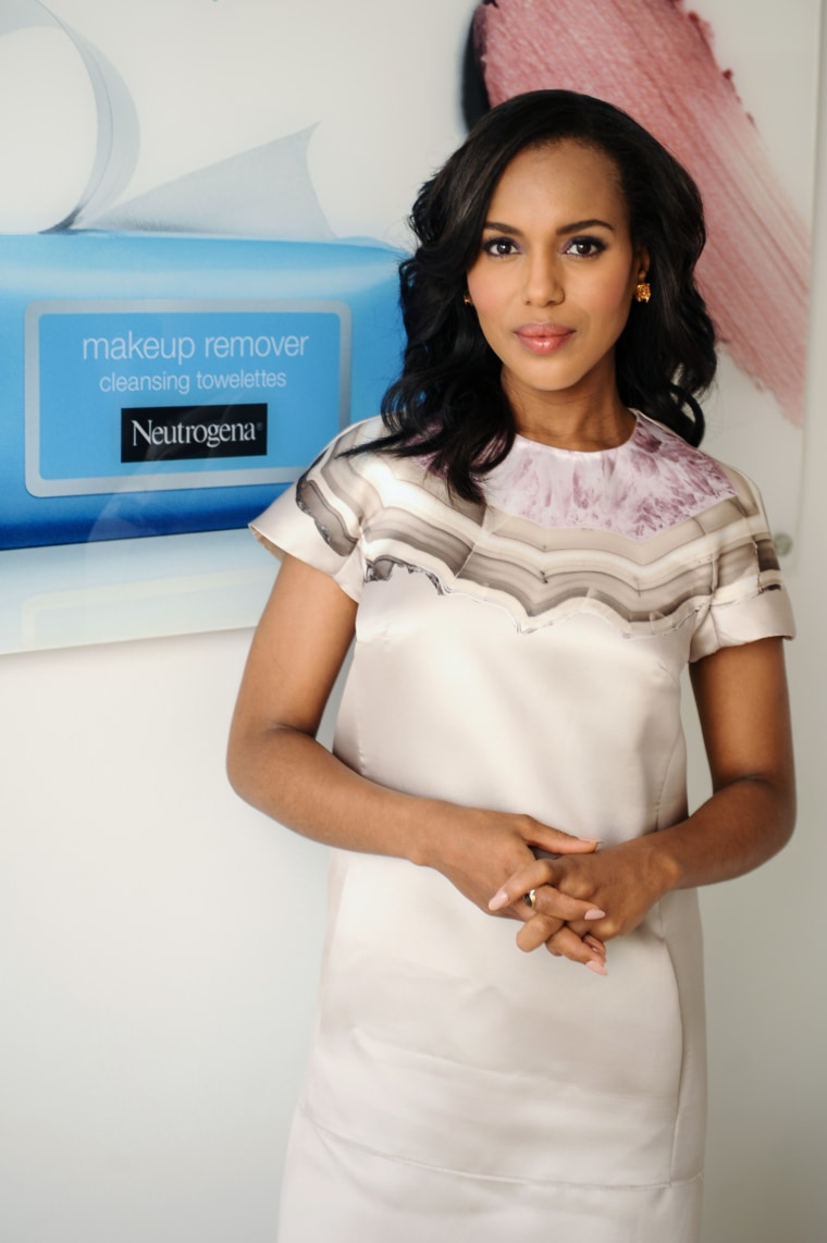 Kerry Washington attends Neutrogena Announces Brand Ambassador Kerry Washington With creative consultant Role on October 17, 2013 in Los Angeles, California.