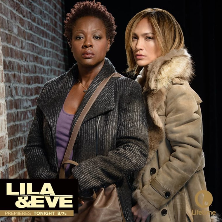 Viola Davis and Jennifer Lopez in Lila & Eve. The film premiered on Lifetime last year and is Davis' debut as a producer.