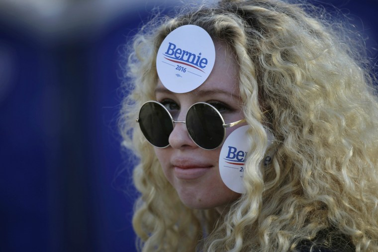 Image: Bernie Sanders Campaign Rally Washington Square Park New York