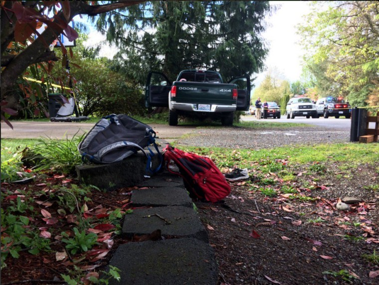 Six students were injured after a pickup truck ran into a bus stop in Maple Valley, Washington on April 14.