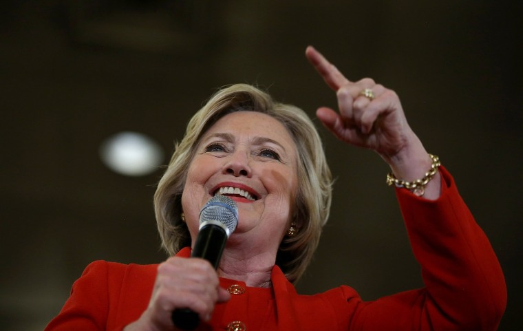 Image: Hillary Clinton Campaigns In The Bronx Ahead Of NY Primary