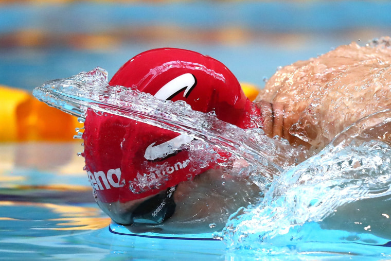 Image: Zak Logue of Great Britain competes in the Men's 400 Individual Medley