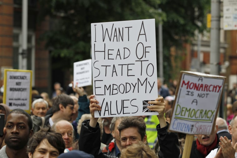 Image: Anti-monarchy protesters in June 2012