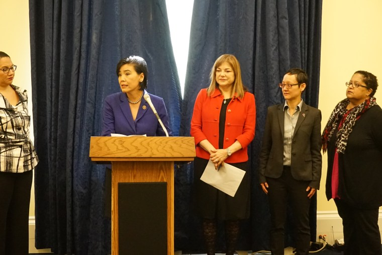 Rep. Judy Chu (D-CA) speaking at press conference Thursday on H.R. 4924, the Prenatal Nondiscrimination Act.