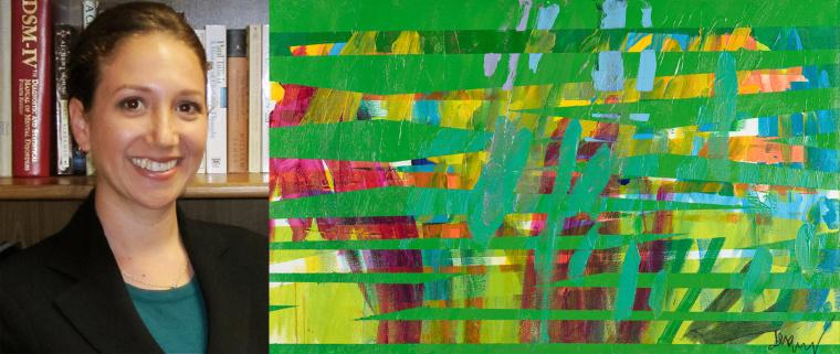 Megan Nunez, and her portrait painted by Jeremy Sicile-Kira