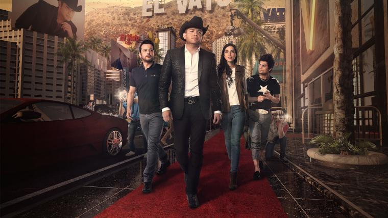 Cast of 'El Vato' [from left to right]: Gustavo Egelhaaf, El Dasa, Cristina Rodlo, and Ricardo Polanco.