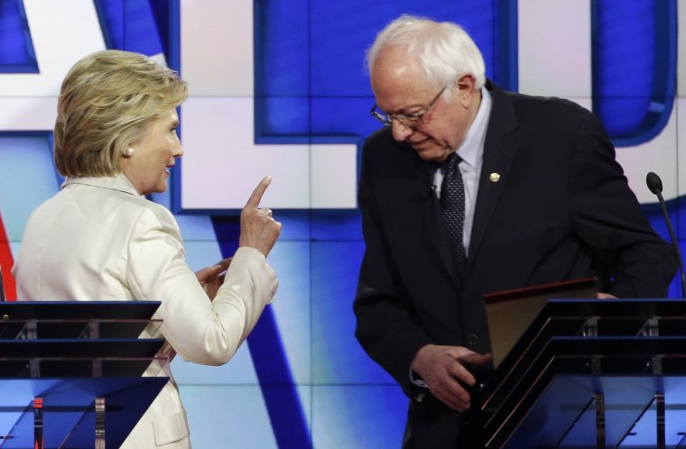 Image: Hillary Clinton, Bernie Sanders