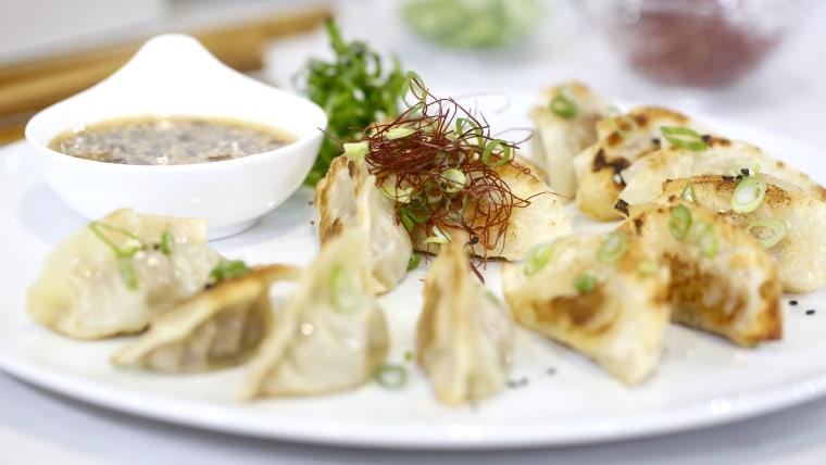 Chef Judy Joo makes meaty dumplings (Korean mandu)