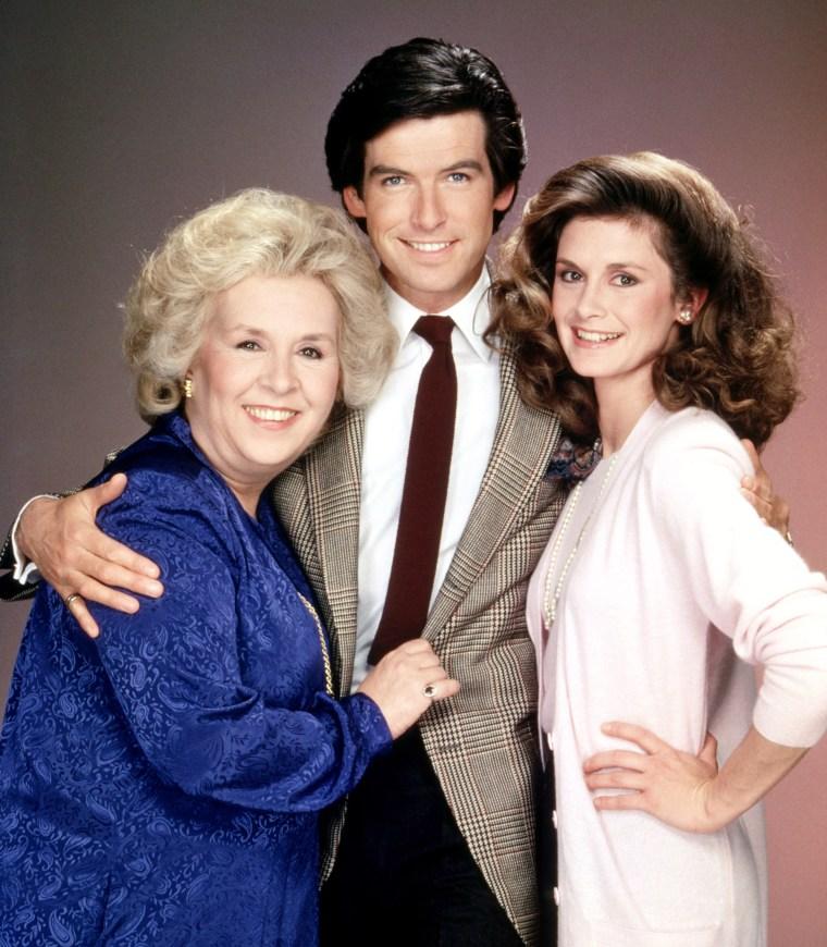 Doris Roberts, Pierce Brosnan, Stephanie Zimbalist, 1982-87.