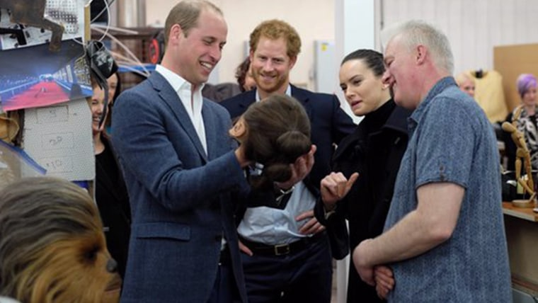 image: prince william and harry and daisy ridley