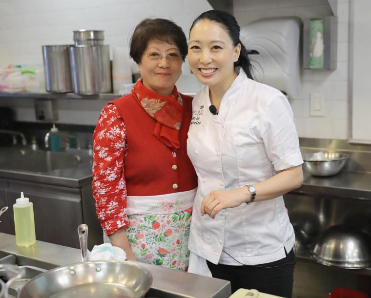 Chef Judy Joo and her mom