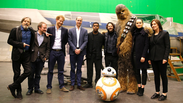 Image: Prince William + Harry meet Star Wars set and crew