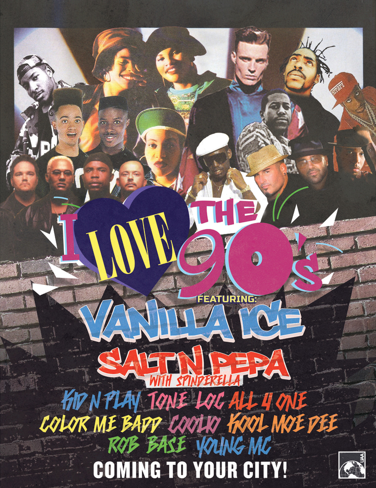Lineup for I Love the '90's Tour