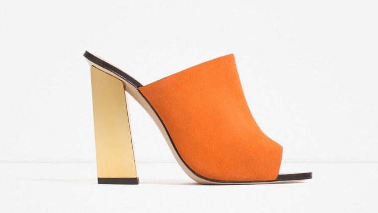 Zara leather mule sandals