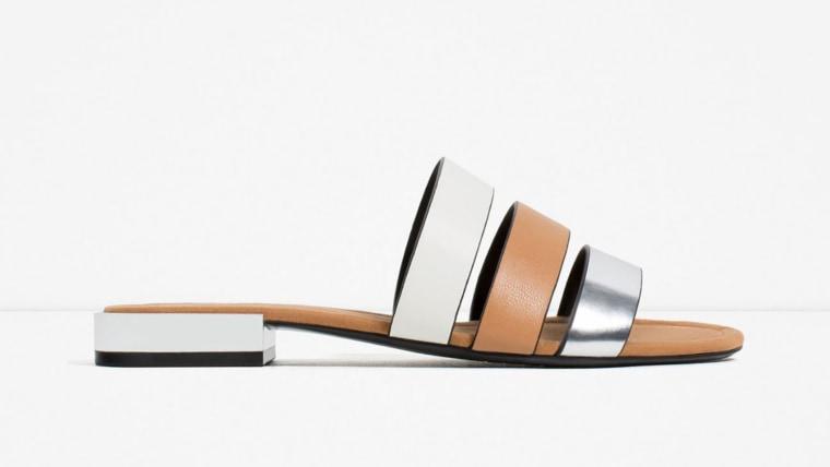 Zara flats with metal heel