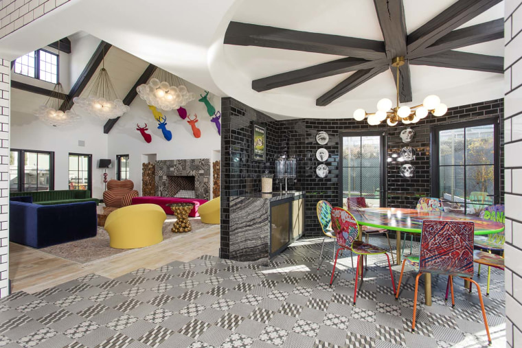 Abstract art inspired California home