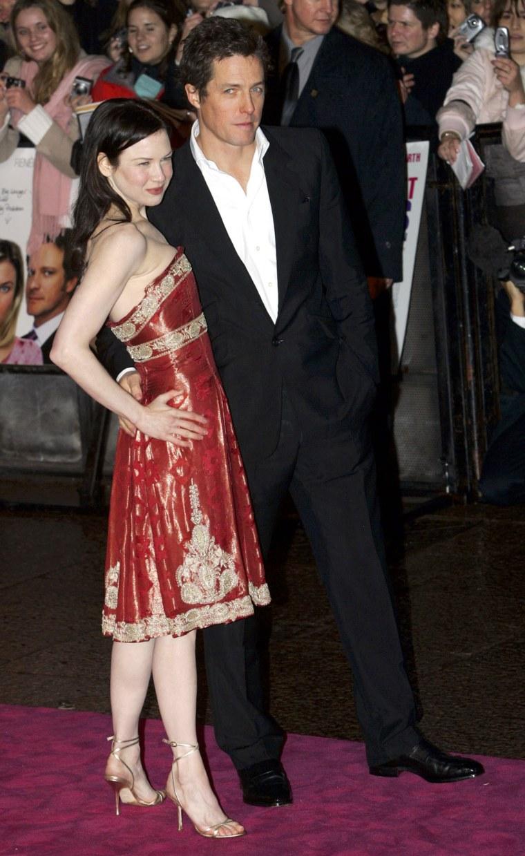 Hugh Grant and actress Renee Zellweger