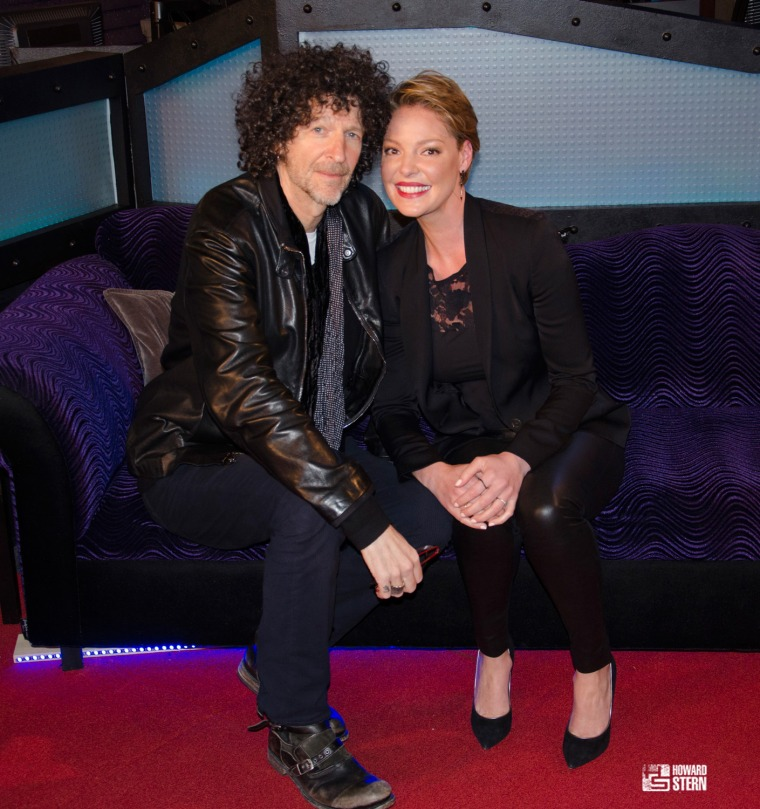 Howard Stern interviewed actress Katherine Heigl on his talk show April 20, 2016.