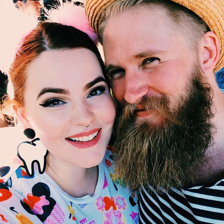 Tess Holliday with her fiance, Nick