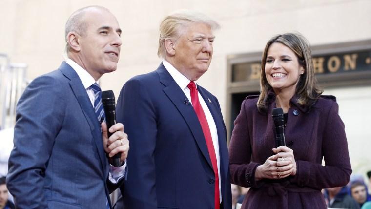 Donald Trump with Matt Lauer and Savannah Guthrie