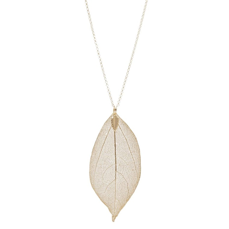 Earthy Chic leaf necklace